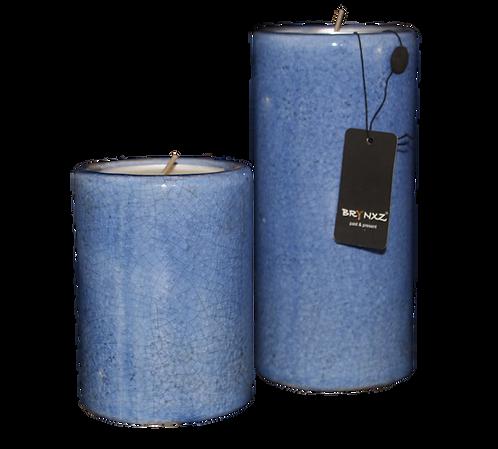 Set kaarsenhouders blauw