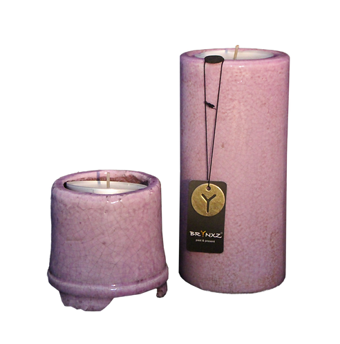 Set kaarsenhouders roze