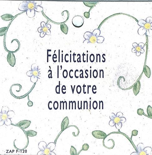 Félicitations à l'occasion de votre communion