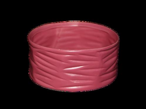 Roze ronde bloempot