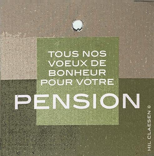 Tous nos voeux de bonheur pour votre pension