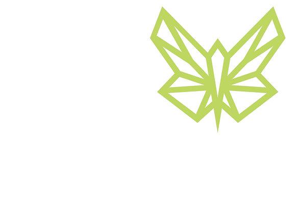 Plakat mit Green Butterfly Firmenlogo / oben-rechts