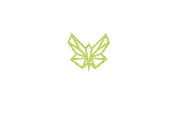 Plakat mit Green Butterfly Firmenlogo / zentriert-mittig