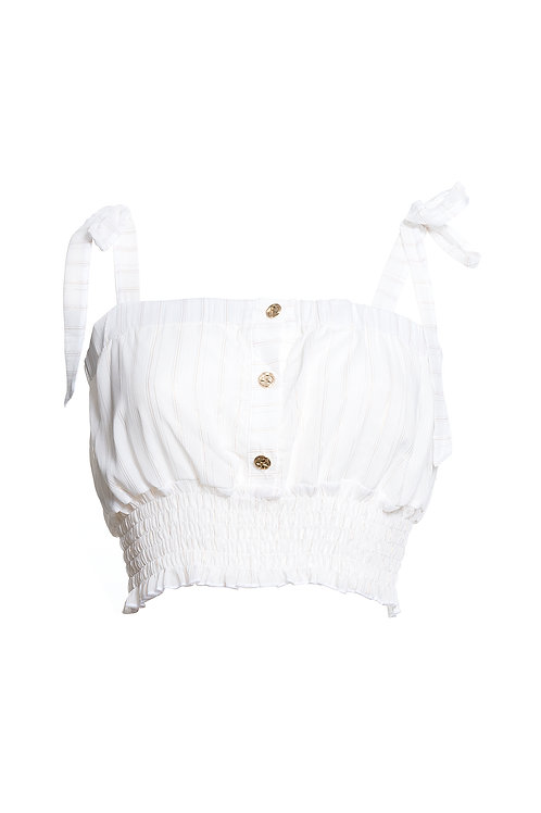 Cropped Top Off White