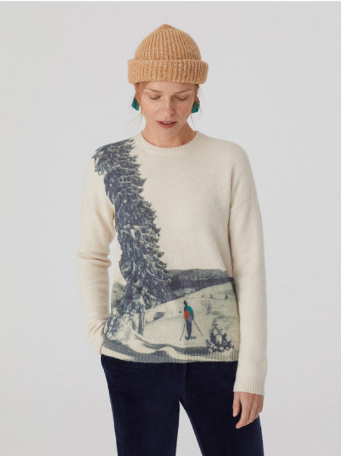 Snowy picture sweater