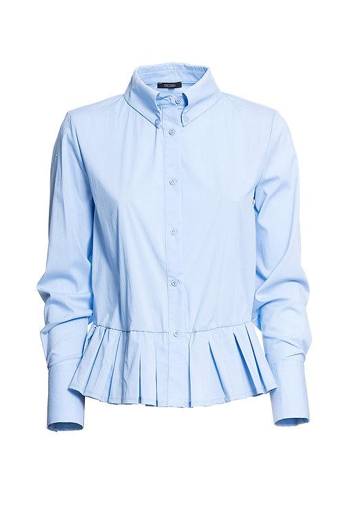 Cropped Shirt Light Blue