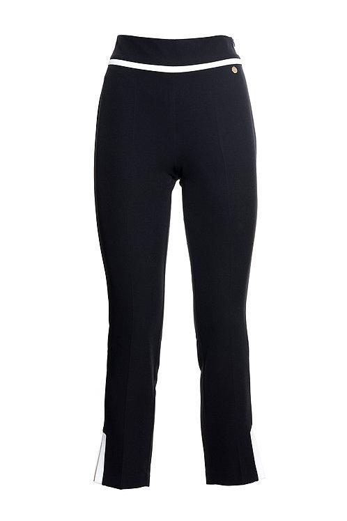 Contrast Slim Pant Black Off White
