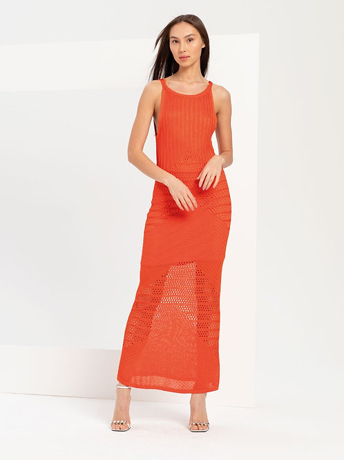 Long Dress Orange