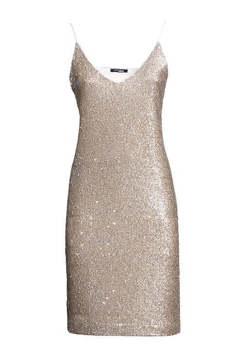 Midi Dress Antique Gold