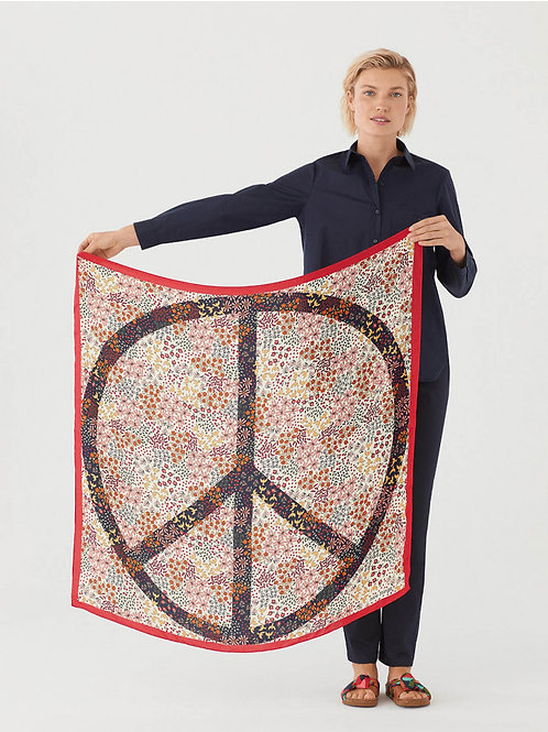 Peaceful garden scarf