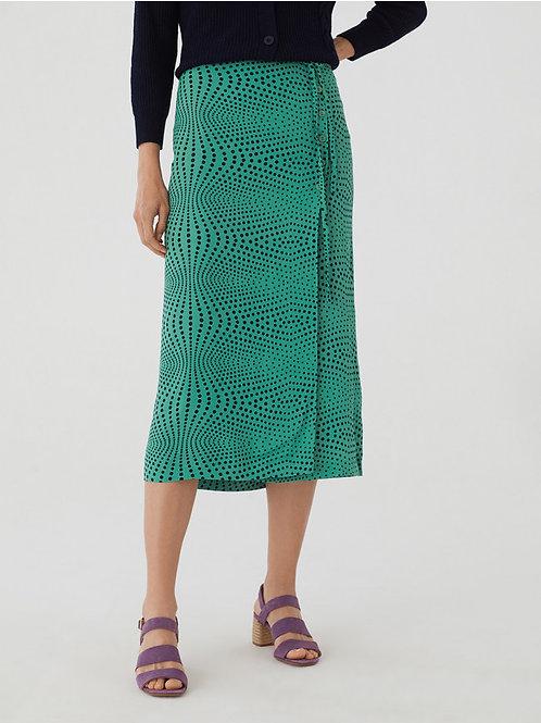 Op Dot Print skirt