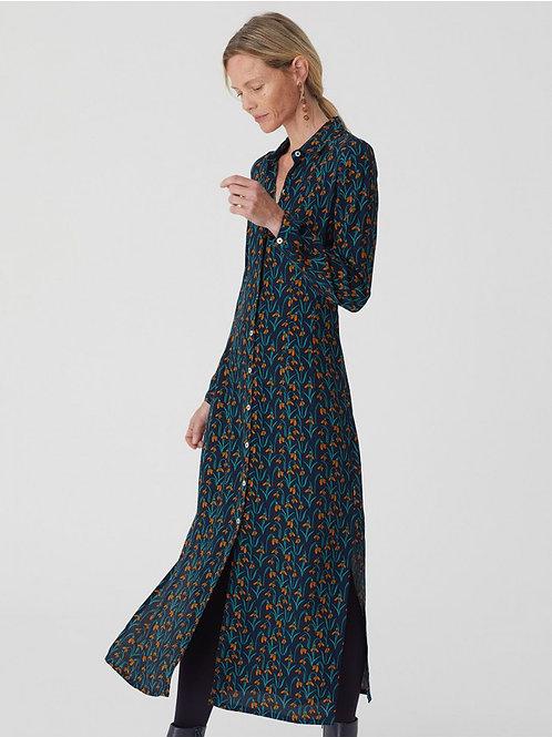 Snowdrops flowers print dress