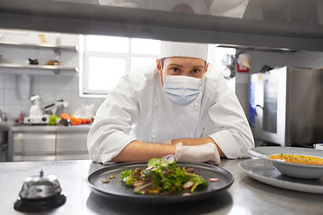 chef | restaurant | frontline worker | face mask