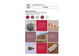 Papermill Artisans Presentation Tet Kell