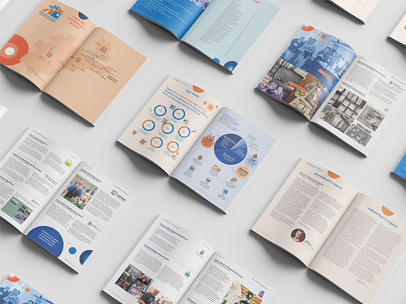 I've had the opportunity once again to provide design and layout of Neighbourhood Houses Barwon's Annual Report for 2020, keeping in mind the organisation's branding colours. I updated the map of Neighbourhoood Houses in the Barwon region and created custom infographics to enable data to be visualised easily and edited photos to ensure overall quality. I liaised with the a local printer as well ensuring a smooth and streamlined workflow.   The complete annual report is found on the Neighbourhood Houses Barwon's website. You can view it here http://bit.ly/NHBreport2020.
