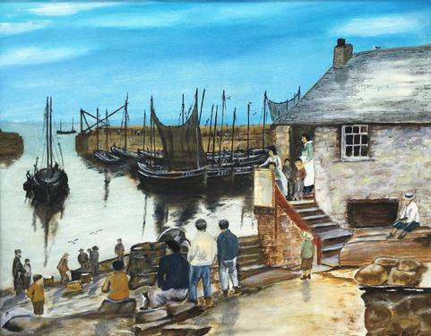 Mousehole Harbour 1910