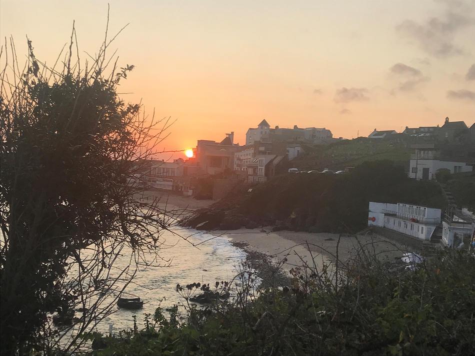 Porthmeor Beach and Tate 07.13am, 17 September 2020
