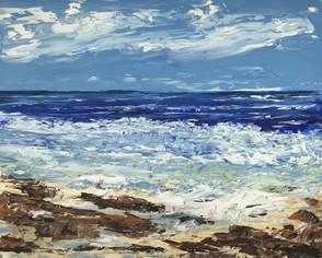 Rocky Beach - Green Sea