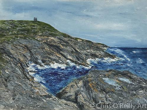 Pendeen Cliffs  - Blue Sea