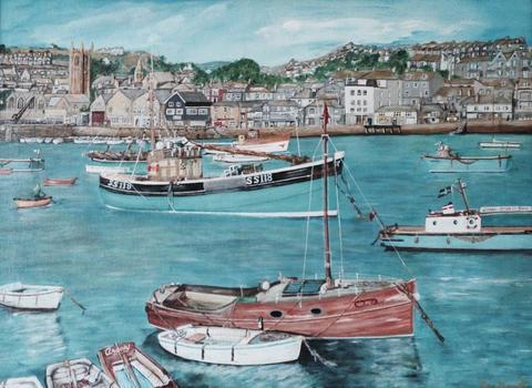 St.Ives Harbour 1960's