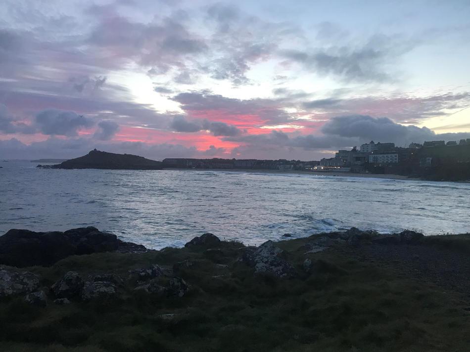 The Island and Porthmeor 07.16am, 7 October 2020