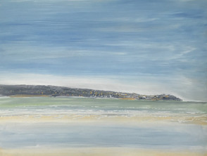 St Ives from Hayle Beach