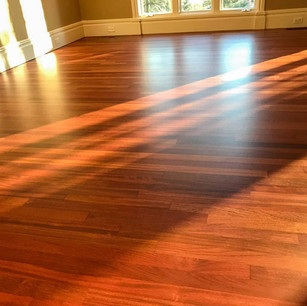Refinished Brazilian Cherry wood floor