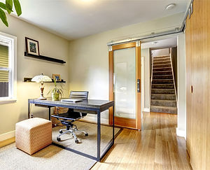 small-home-office-interior-with-hardwood