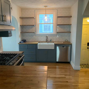 Kitchen with wood floor