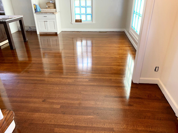 Refinished Red Oak wood floors