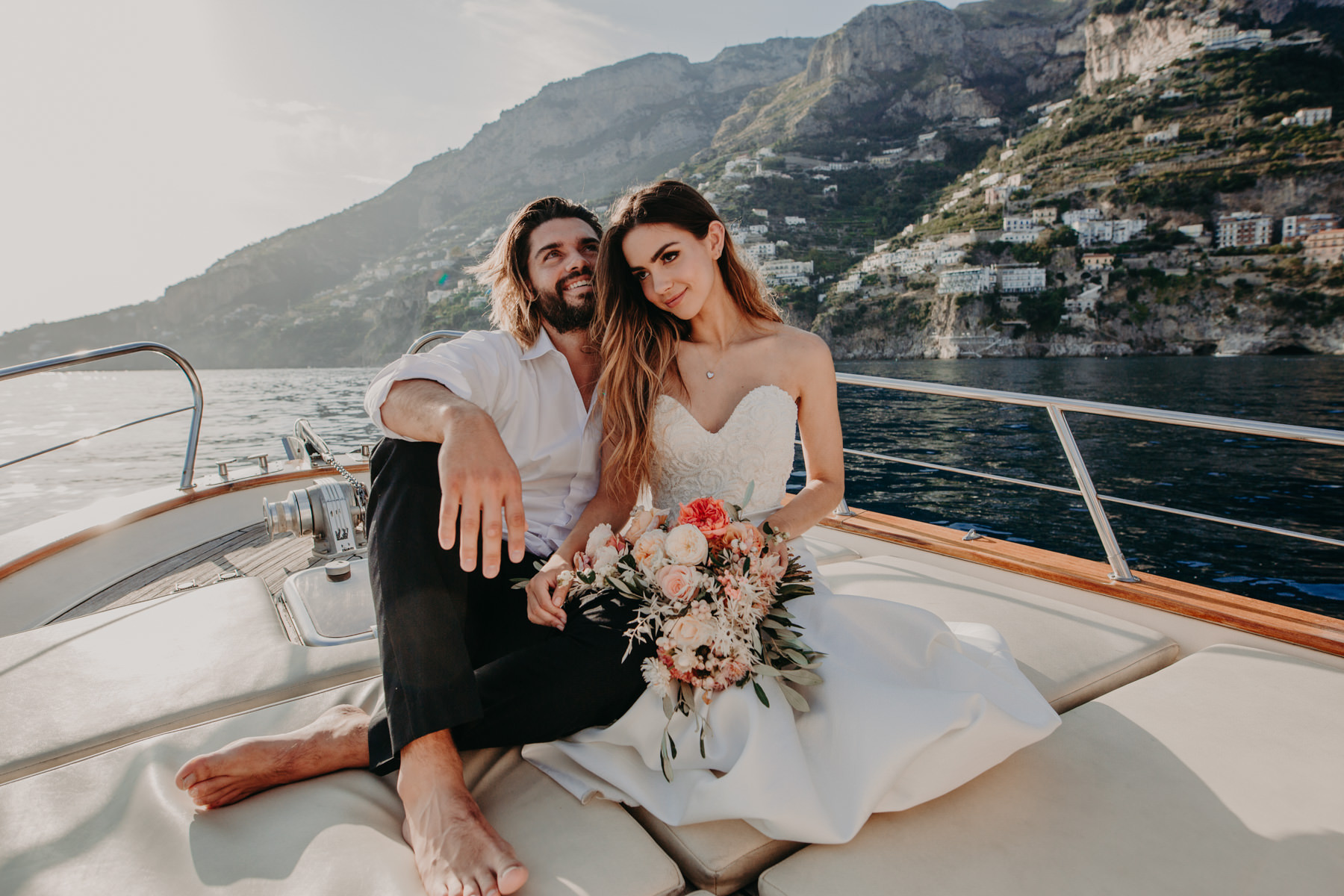 Italy wedding couple