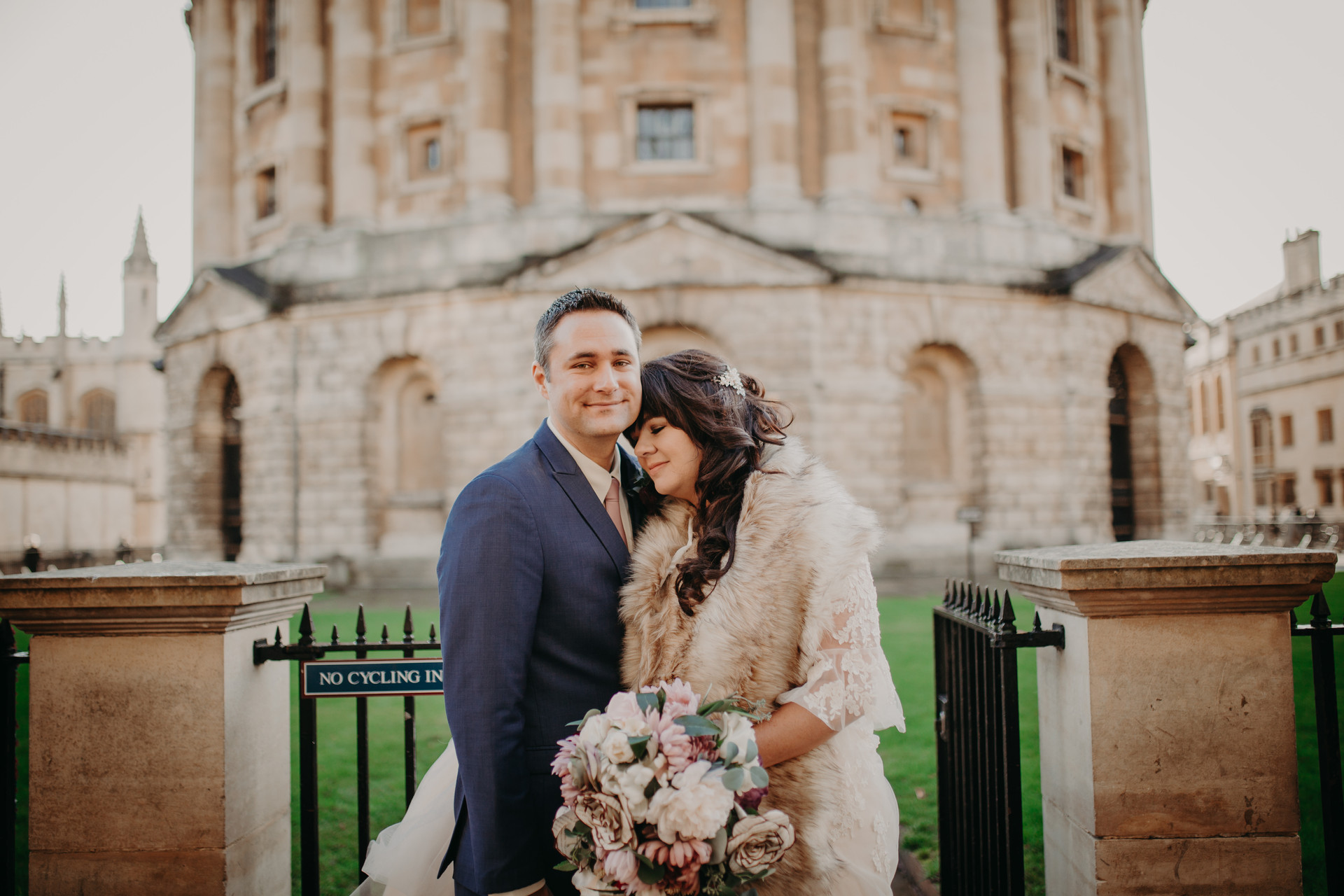 Radcliffe Camera Oxford wedding portrait