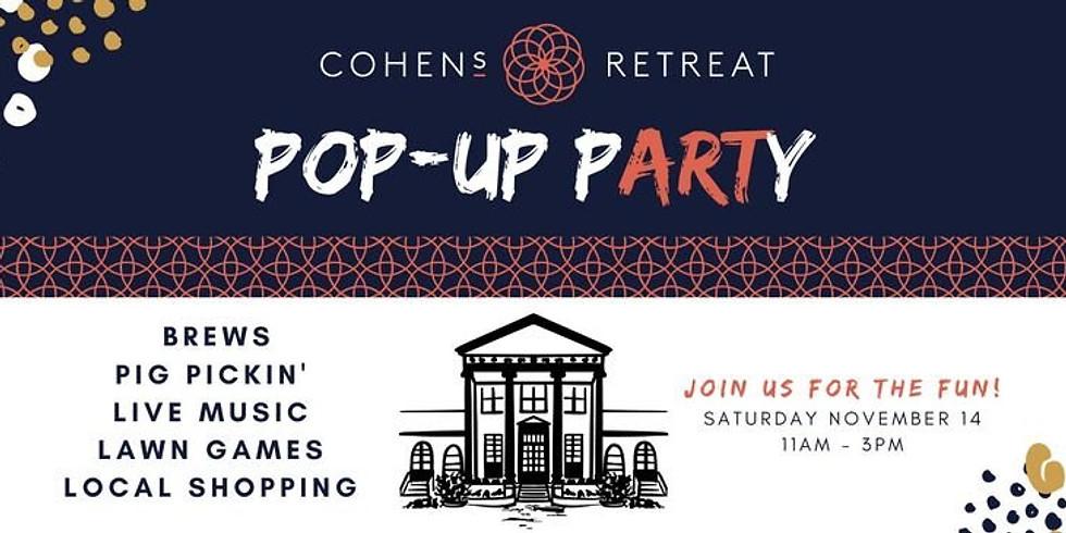 Cohen's Retreat Pop Up pARTy 2020