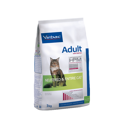 Virbac Adult Neutered & Entire cat Salmon 3kg