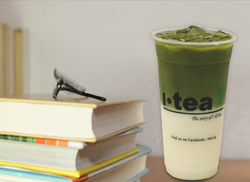 Matcha Latte table background 4000 x 292