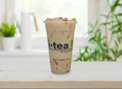 Coconut Jelly Milk Tea window background