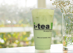 Honeydew Milk Tea window background 4000