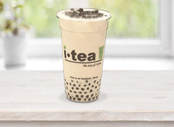 Oolong Milk Tea Pearl window background