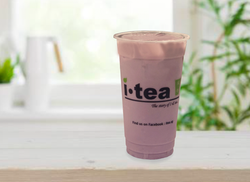 Taro Milk Tea wo pearls window backgroun