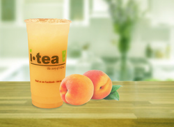 Peach Yakult kitchen table background 40