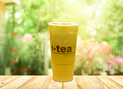 Fresh Lemon Green Tea outdoor background