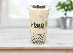 Green Milk Tea Pearl window background 4