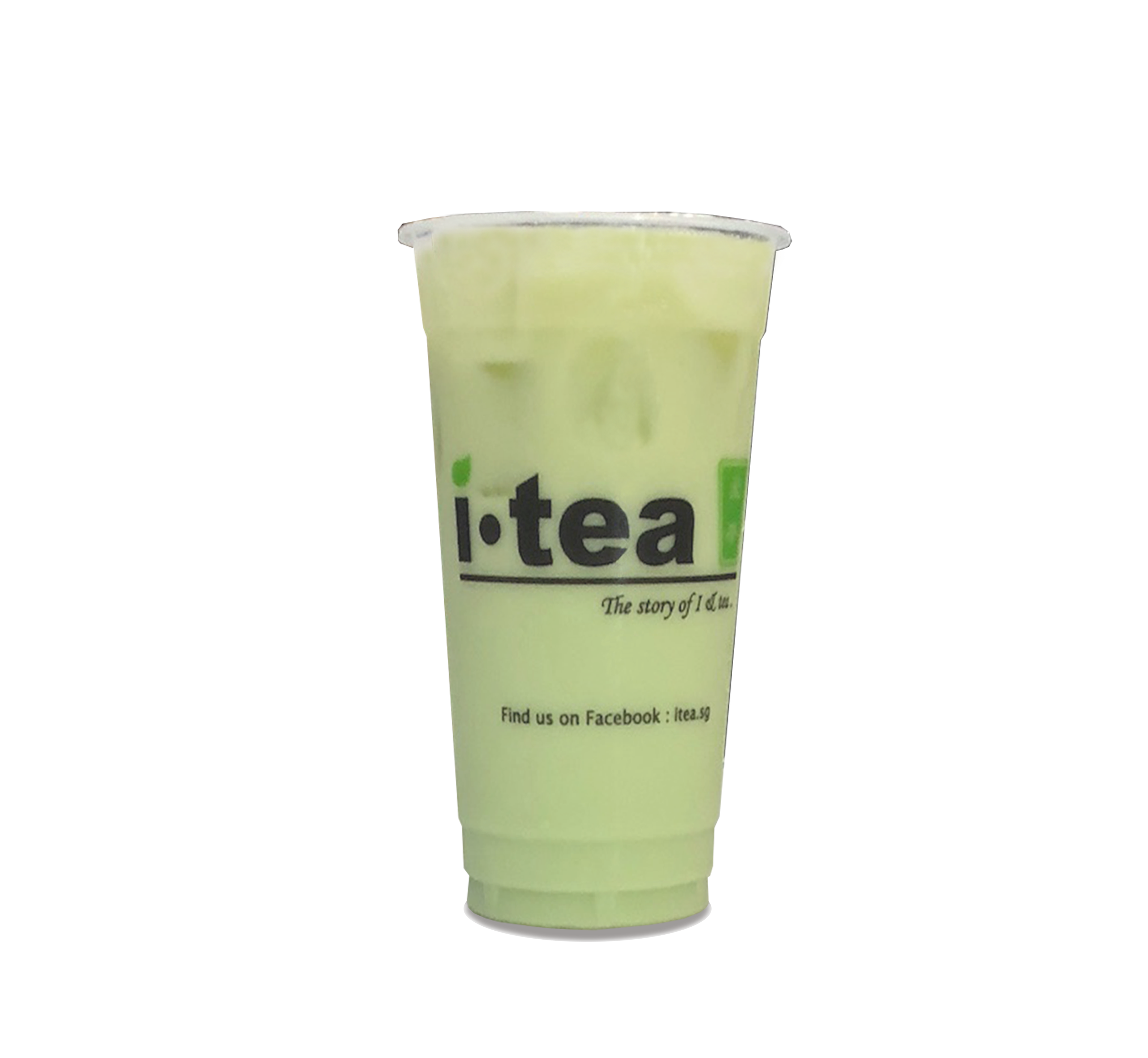 honeydew milk tea no background