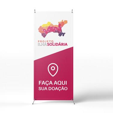 Ilha Solidária | Banner de ponto de coleta