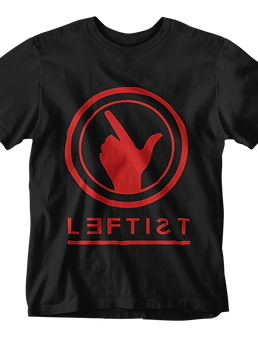 WE ARE LEFTIST TEE - BLACK
