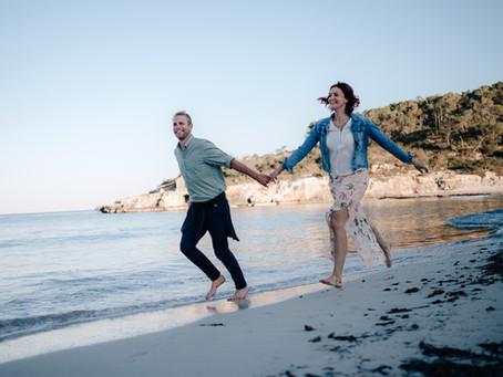 Sand zwischen den Zehen und Meeresrauschen Melissa & Ruppert