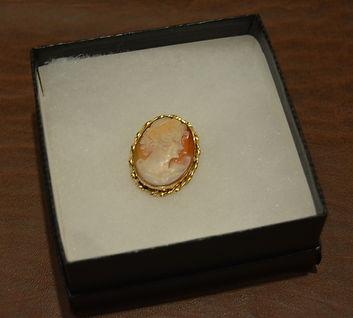 Hand Carved Antique Italian Cameo Pin - Pendant $245.JPG