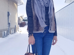 Outfit Recreate; Striped Turtleneck