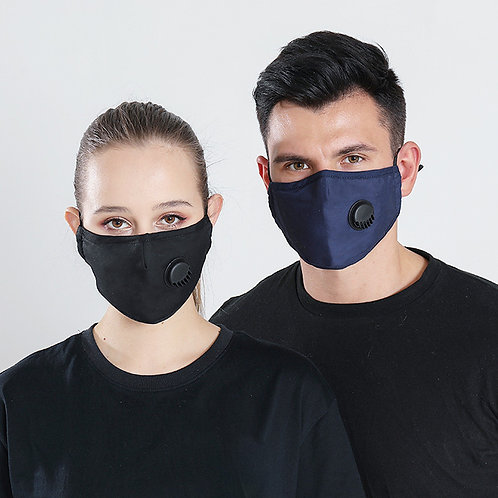 Antiviral Cotton Face Mask with Valve - DCDG-04