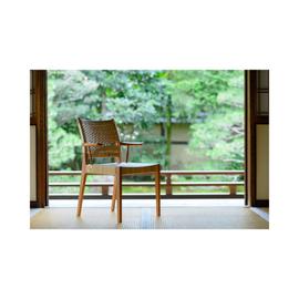 籐張りハーフアームチェアー by Koichi Toji